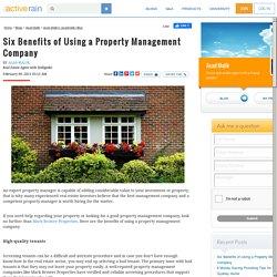 Six Benefits of Using a Property Management Company