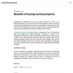 Benefits of buying auction property – propertyauctionssite