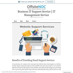 Benefits of Providing Email Support Services