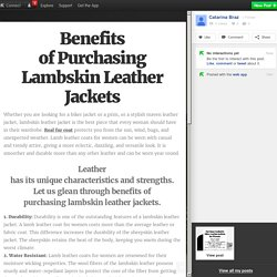Benefits of Purchasing Lambskin Leather Jackets