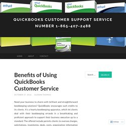 QuickBooks Customer Support Service Number 1-865-407-2488