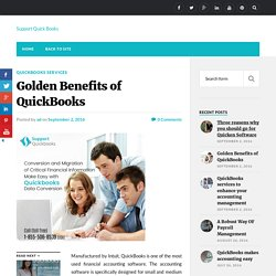 Golden Benefits of QuickBooks - Support Quick Books