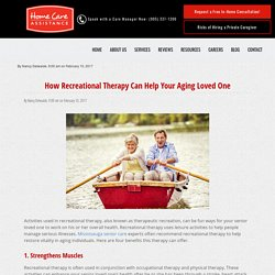 Top 4 Benefits of Recreational Therapy Past Age 65