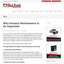 Why Furnace Maintenance Is So Important