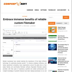 Embrace immense benefits of reliable custom Filemaker