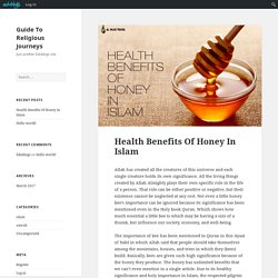 Health Benefits Of Honey In Islam – Guide To Religious Journeys