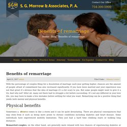Benefits of remarriage - S. G. Morrow & Associates, P.A.