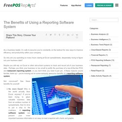 The Benefits of Using a Reporting Software System