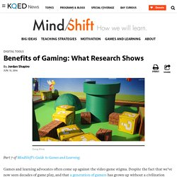 Benefits of Gaming: What Research Shows