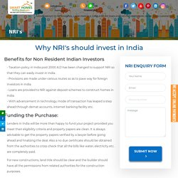 Dholera Smart City - Benefits for Non Resident Indian Investors