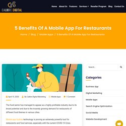 5 Benefits Of A Mobile App For Restaurants