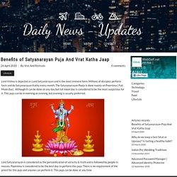 Benefits of Satyanarayan Puja And Vrat Katha Jaap