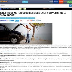 Benefits of motor club services every driver should know about