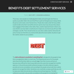 Benefits Debt Settlement Services