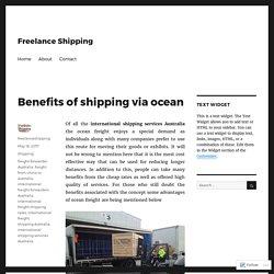 Benefits of shipping via ocean