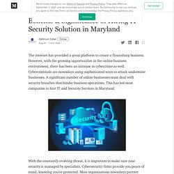Benefits & Significance of Hiring IT Security Solution in Maryland
