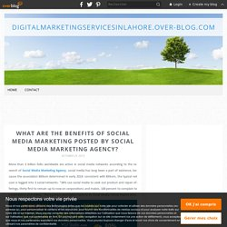 What are the Benefits of Social Media Marketing Posted by Social Media Marketing Agency? - Digitalmarketingservicesinlahore.over-blog.com