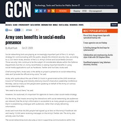 Army sees benefits in social-media presence -- Government Comput