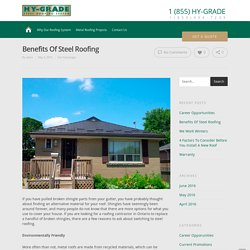 Benefits Of Steel Roofing