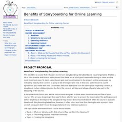 Benefits of Storyboarding for Online Learning