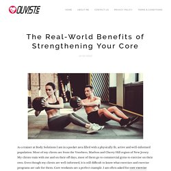 The Real-World Benefits of Strengthening Your Core
