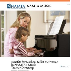 Benefits for teachers to list their name in NAMTA's Music Teacher Directory – Namta Music