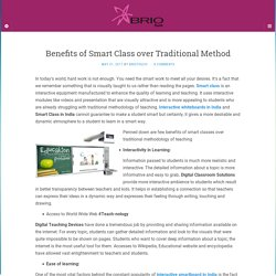 Benefits of Smart class in India over traditional method