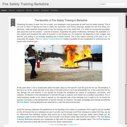 The benefits of Fire Safety Training in Berkshire