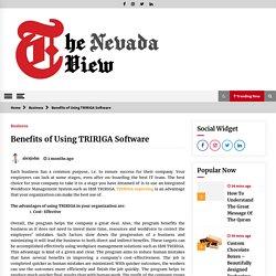 Benefits of Using TRIRIGA Software -