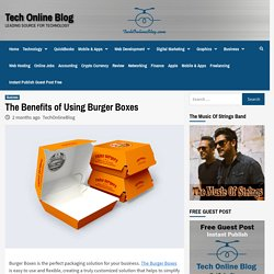 The Benefits of Using Burger Boxes - Tech Online Blog