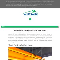 Benefits of Using Electric Chain Hoist