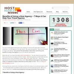 Benefits of Using a Host Agency