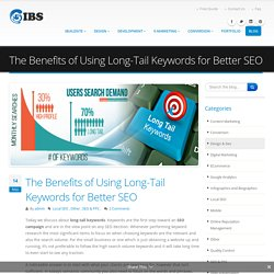 The Benefits of Using Long-Tail Keywords for Better SEO