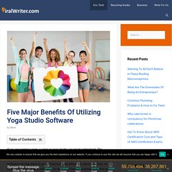 Five Major Benefits Of Utilizing Yoga Studio Software