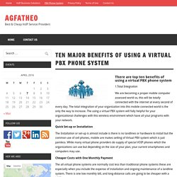 Ten major Benefits of Using a Virtual PBX Phone System – AGFATHEO