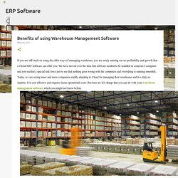 Benefits of using Warehouse Management Software