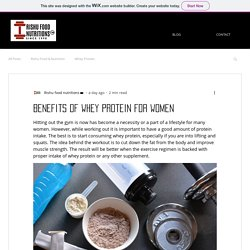 Benefits of whey protein for women
