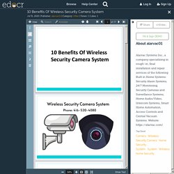 10 Benefits Of Wireless Security Camera System