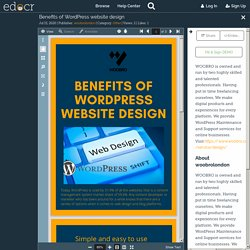 Benefits of WordPress website design