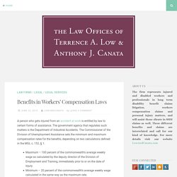 Benefits in Workers' Compensation Laws