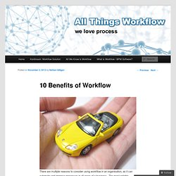 10 Benefits of Workflow
