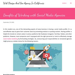 Benefits of Working with Social Media Agencies