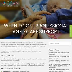 When to Get Professional Aged Care Support