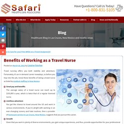 Benefits of Working as a Travel Nurse