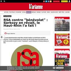 """RSAcontre """"bénévolat"""" : Le conseil départemental du Haut-Rhin devrait avoir honte !"""