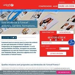 Etre bénévole à l'Unicef : activités, carrière, formations…