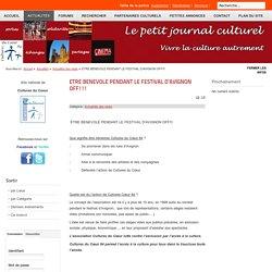 ETRE BENEVOLE PENDANT LE FESTIVAL D'AVIGNON OFF!!!