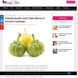 8 Health Benfits and 5 Side Effects of Garcinia Cambogia