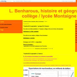 L. Benharous, histoire et géographie, collège / lycée Montaigne - Page 4 - L. Benharous, histoire et géographie, collège / lycée Montaigne