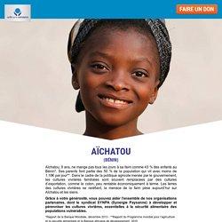 Au Bénin, Aïchatou ne mange pas tous les jours à sa faim